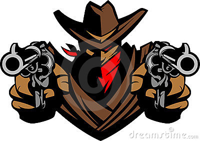 Cowboy Mascot Illustration Vector Logo