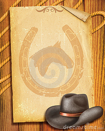 Cowboy Old paper background
