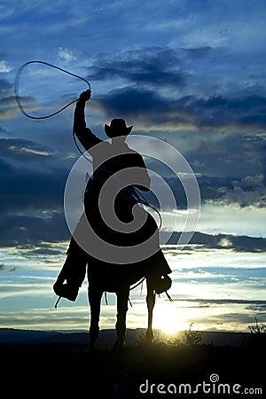 Free Cowboy On Horse Facing Roping Royalty Free Stock Photo - 26833415
