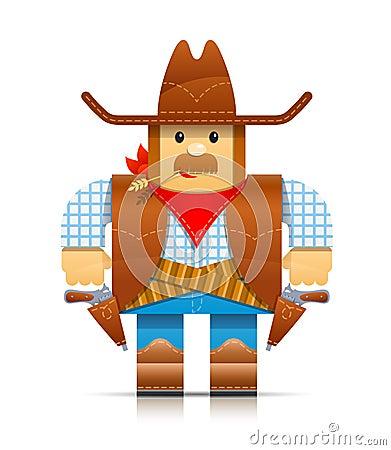 Cowboy origami toy