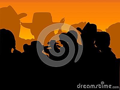 Cowboy party: orange