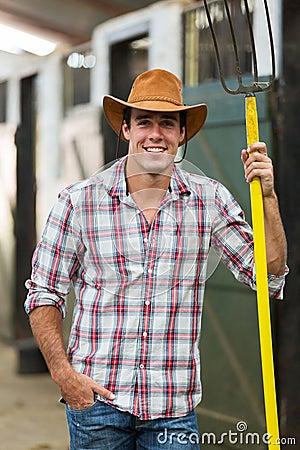 Cowboy pitch fork