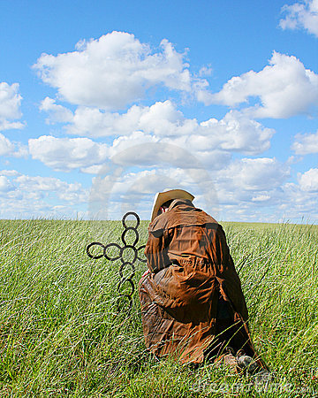 Cowboy Praying Stock Photo - Image: 18431720