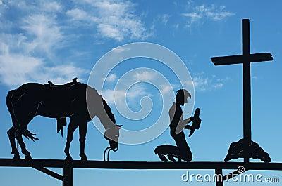 Cowboy  Praying