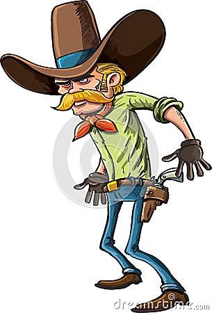 Cowboy pronto para desenhar