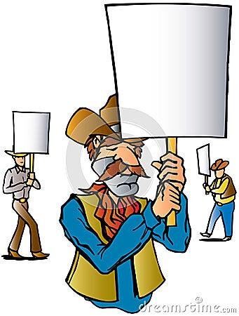 Cowboy Protest