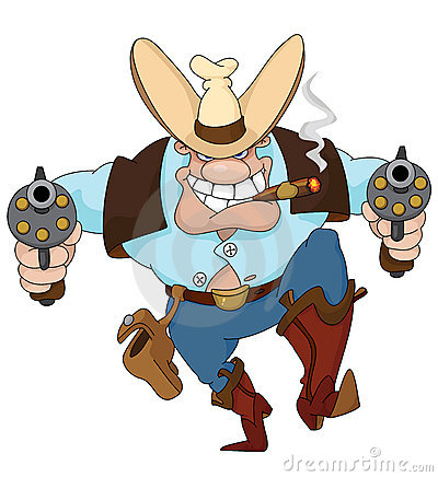 Cowboy with revolvers