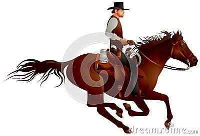 Cowboy rider gunfighter