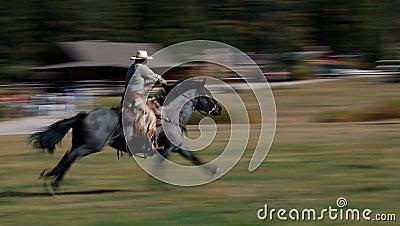 Cowboy Riding Horse #3