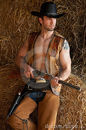 Cowboy with rifle