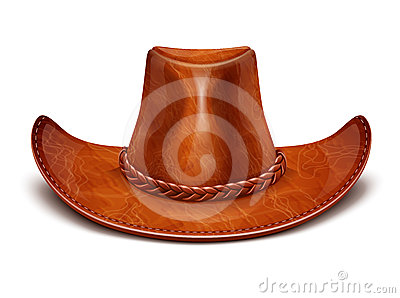 Cowboy s leather hat stetson