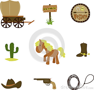Free Cowboy Set Royalty Free Stock Image - 26688236