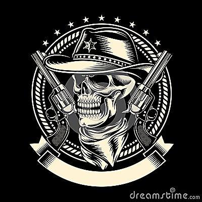 cowboy hat skull tattoos