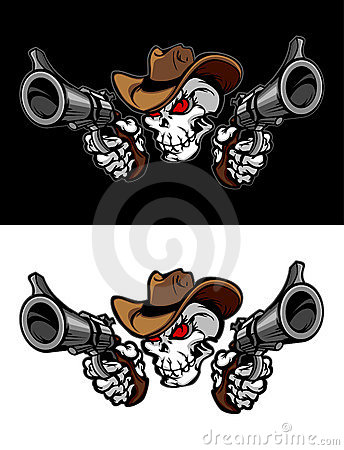 Free Cowboy Skull Illustration Logo Royalty Free Stock Photos - 19291498