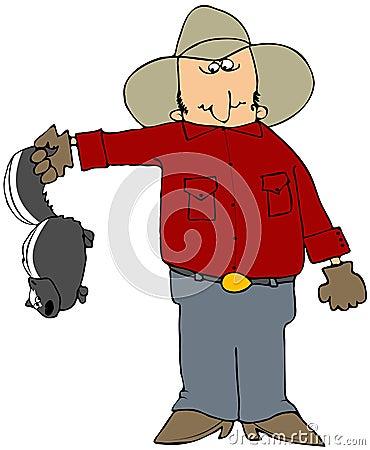 Cowboy With A Skunk