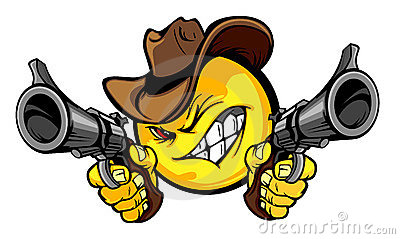 Cowboy Smiley Illustration Logo