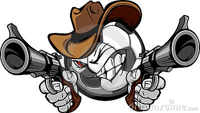 Cowboy Soccer Cartoon Shootout