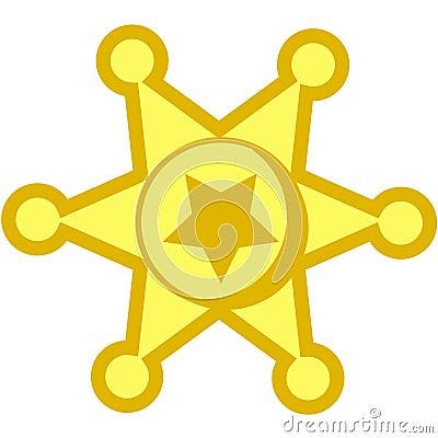 Cowboy star badge