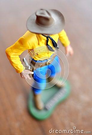 Free Cowboy Toy Figure Royalty Free Stock Photo - 15370125