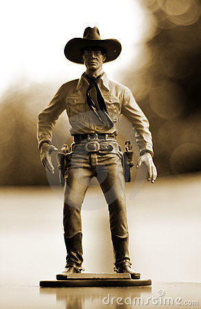 Free Cowboy Toy Figure Royalty Free Stock Photography - 15370167