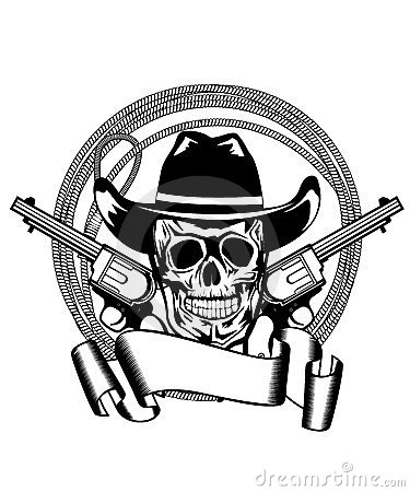 Cowboy and two pistols