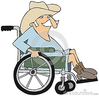 Cowboy in a wheelchair