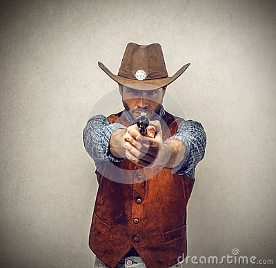 Free Cowboy With A Gun Royalty Free Stock Image - 37012666