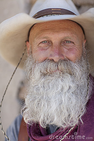 Free Cowboy With A Long White Beard Stock Images - 13710754