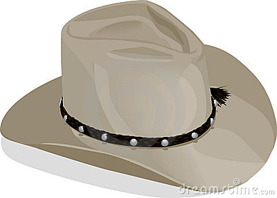 Cowboyhat with clipping path