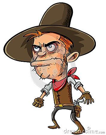 Cowboypistolenheld ungefähr zum zu zeichnen