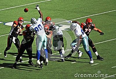 Cowboys Bengals Palmer Throws Editorial Image