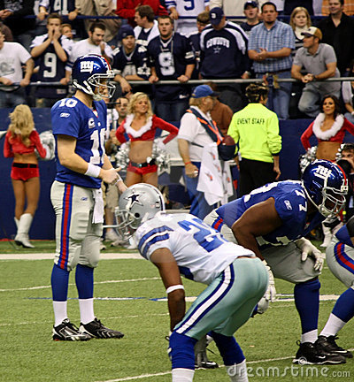 Cowboys and Giants with Eli Manning Editorial Photography