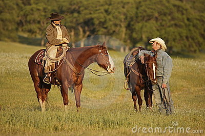 Cowboys Meeting in Meadow