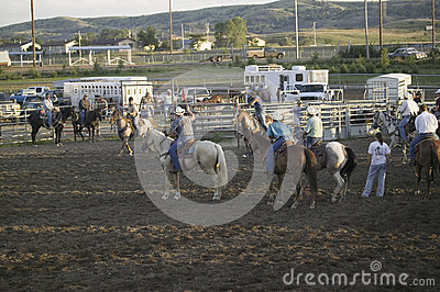 Cowboys at PRCA Rodeo Editorial Photography