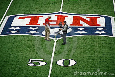 Cowboys Stadium 50 Yard Line Trophy Discussion Editorial Photography