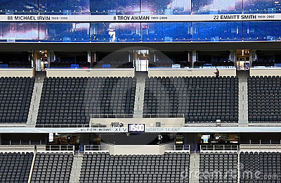 Cowboys Stadium Broadcast Booth Editorial Stock Photo
