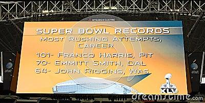 Cowboys Stadium Giant Scoreboard Editorial Photo