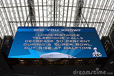 Cowboys Stadium Giant Scoreboard Editorial Stock Image