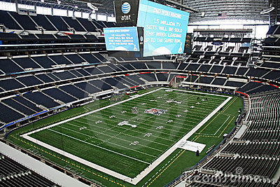 Cowboys Stadium From Luxury Suite Editorial Stock Image