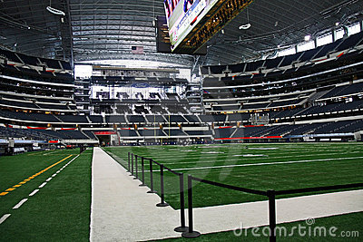 Cowboys Stadium Super Bowl End Zone and Field Editorial Stock Photo
