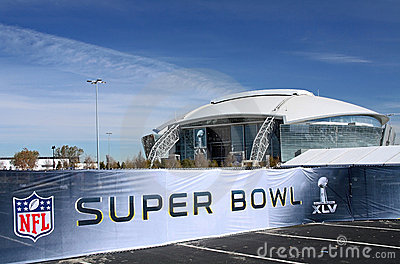 Cowboys Stadium Super Bowl Sign Editorial Stock Photo