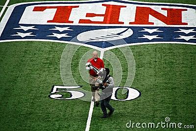 Cowboys Stadium Super Bowl Trophy Editorial Image