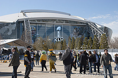 Cowboys Stadium, Superbowl XLV, Fans at Super Bowl Editorial Stock Photo