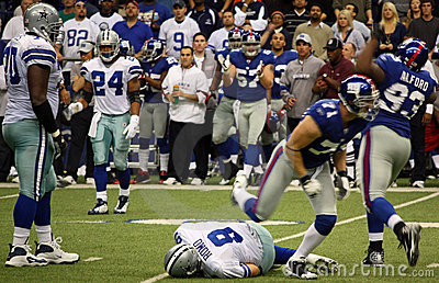 Cowboys Tony Romo Sacked Editorial Photo