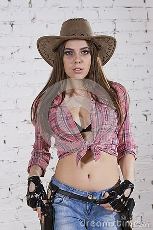 Free Cowgirl Royalty Free Stock Photo - 125505795