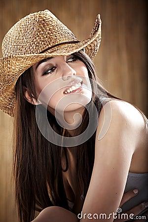Cowgirl atractivo
