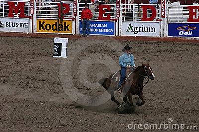 Cowgirl barrel racing Editorial Photography