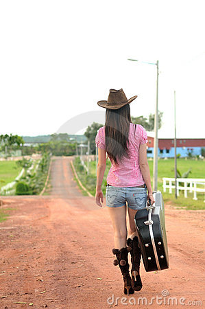 Cowgirl going home