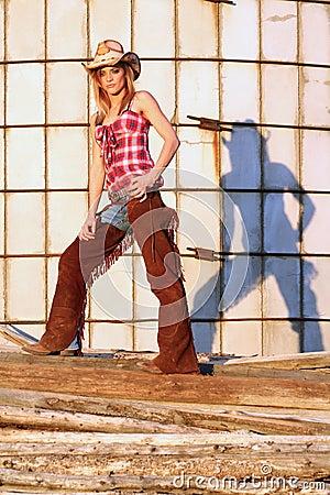 Cowgirl jej cień