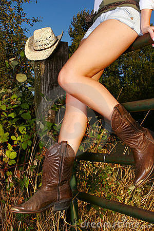 Free Cowgirl Legs Stock Photography - 1662092